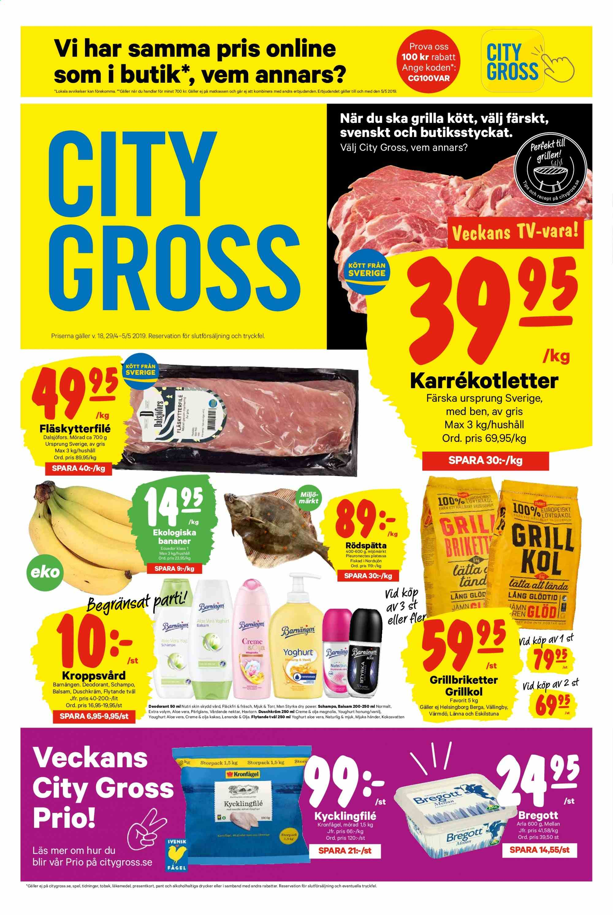 City Gross reklamblad - 29/4 2019 - 5/5 2019. Sida 1.