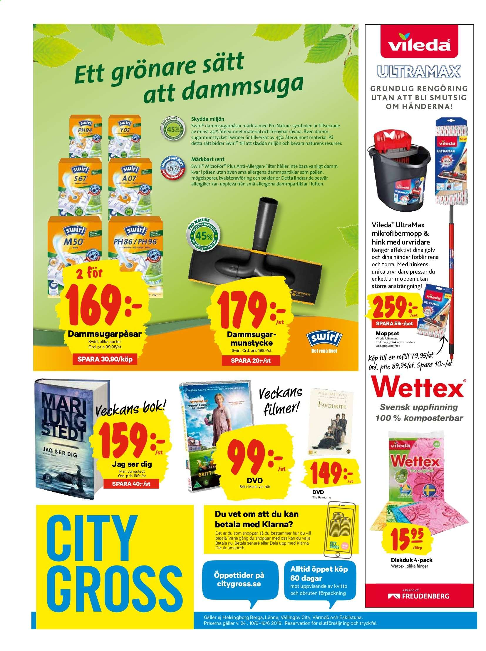 City Gross reklamblad - 10/6 2019 - 16/6 2019. Sida 15.