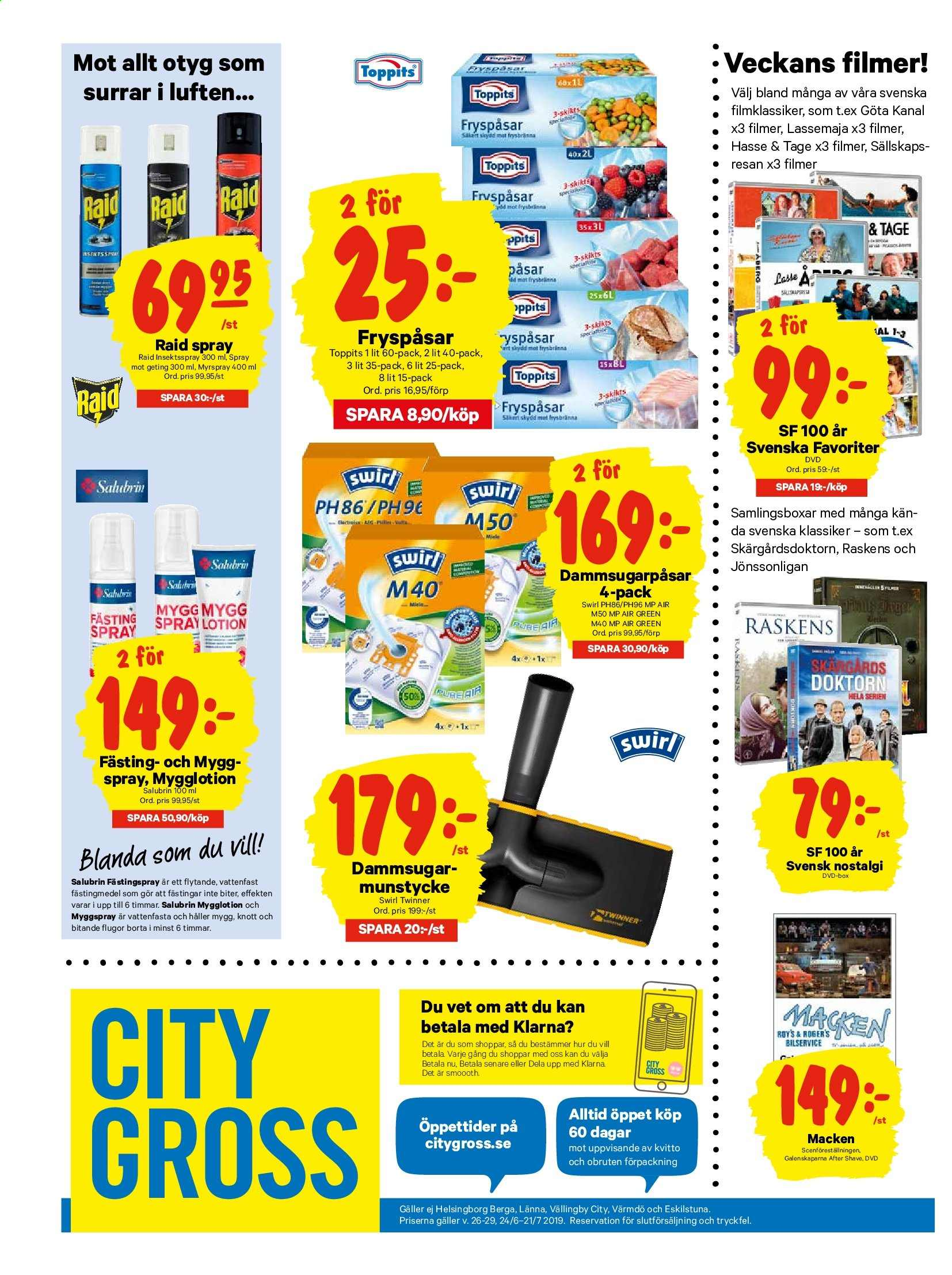 City Gross reklamblad - 24/6 2019 - 30/6 2019. Sida 16.