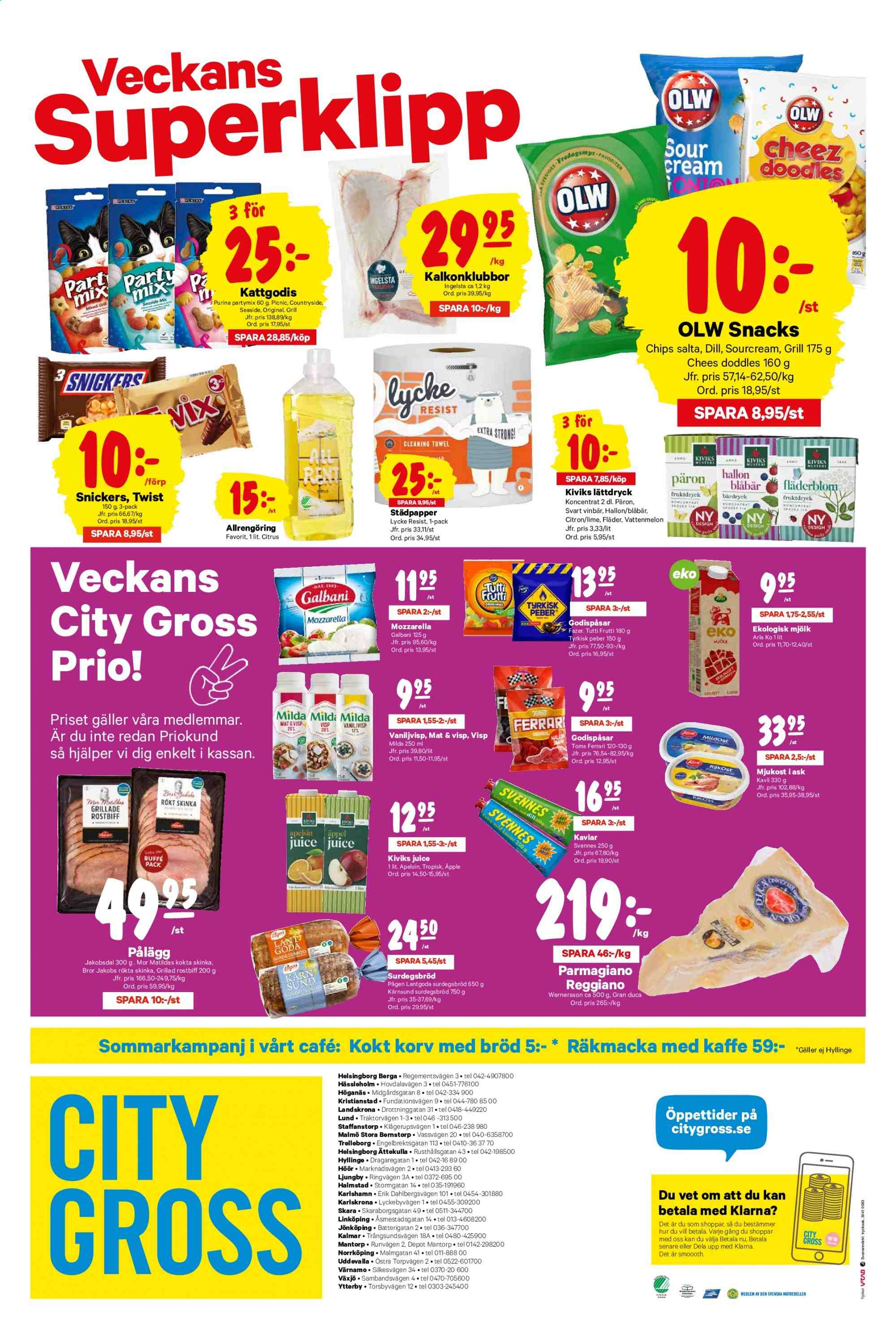 City Gross reklamblad - 1/7 2019 - 7/7 2019. Sida 16.