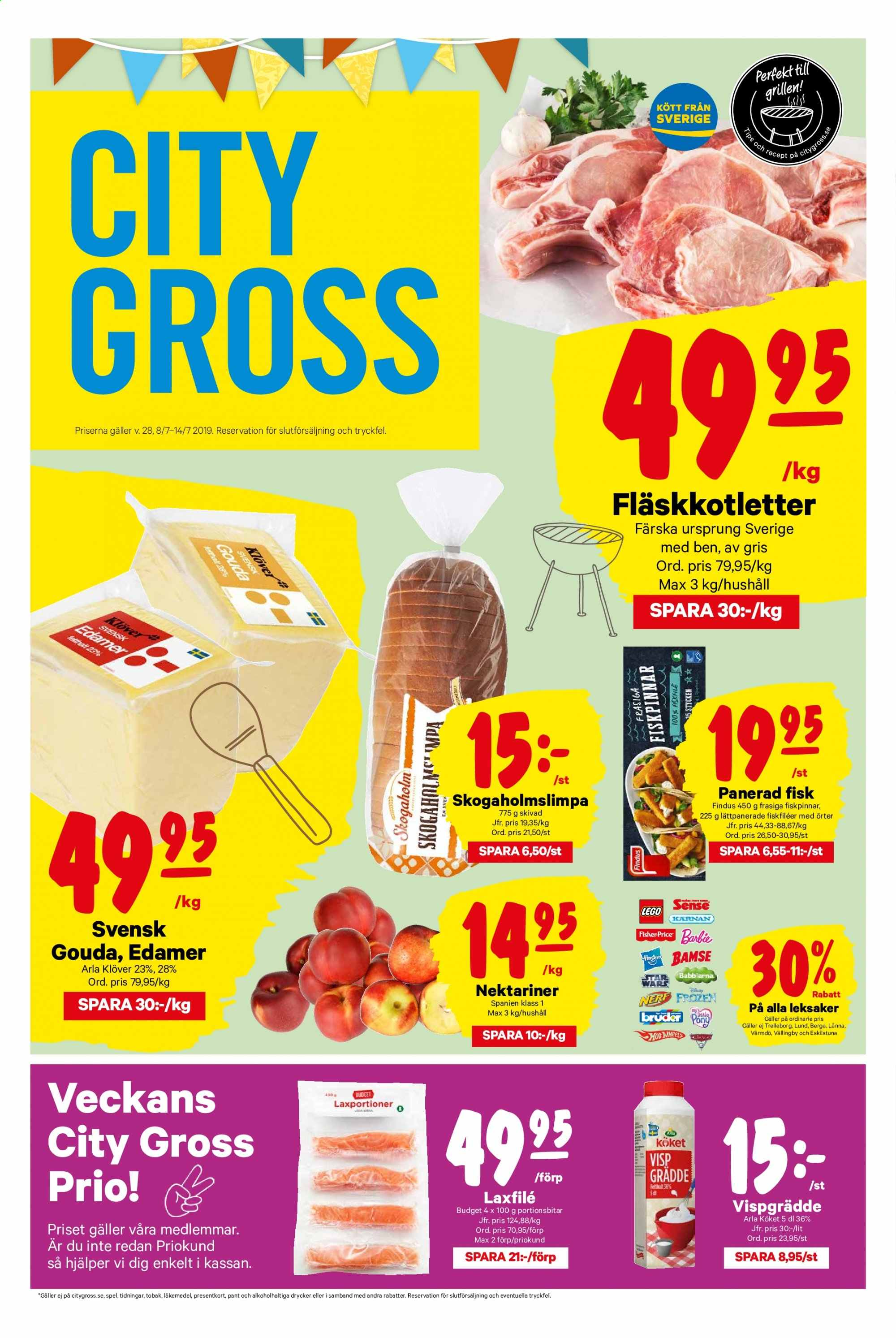 City Gross reklamblad - 8/7 2019 - 14/7 2019. Sida 1.