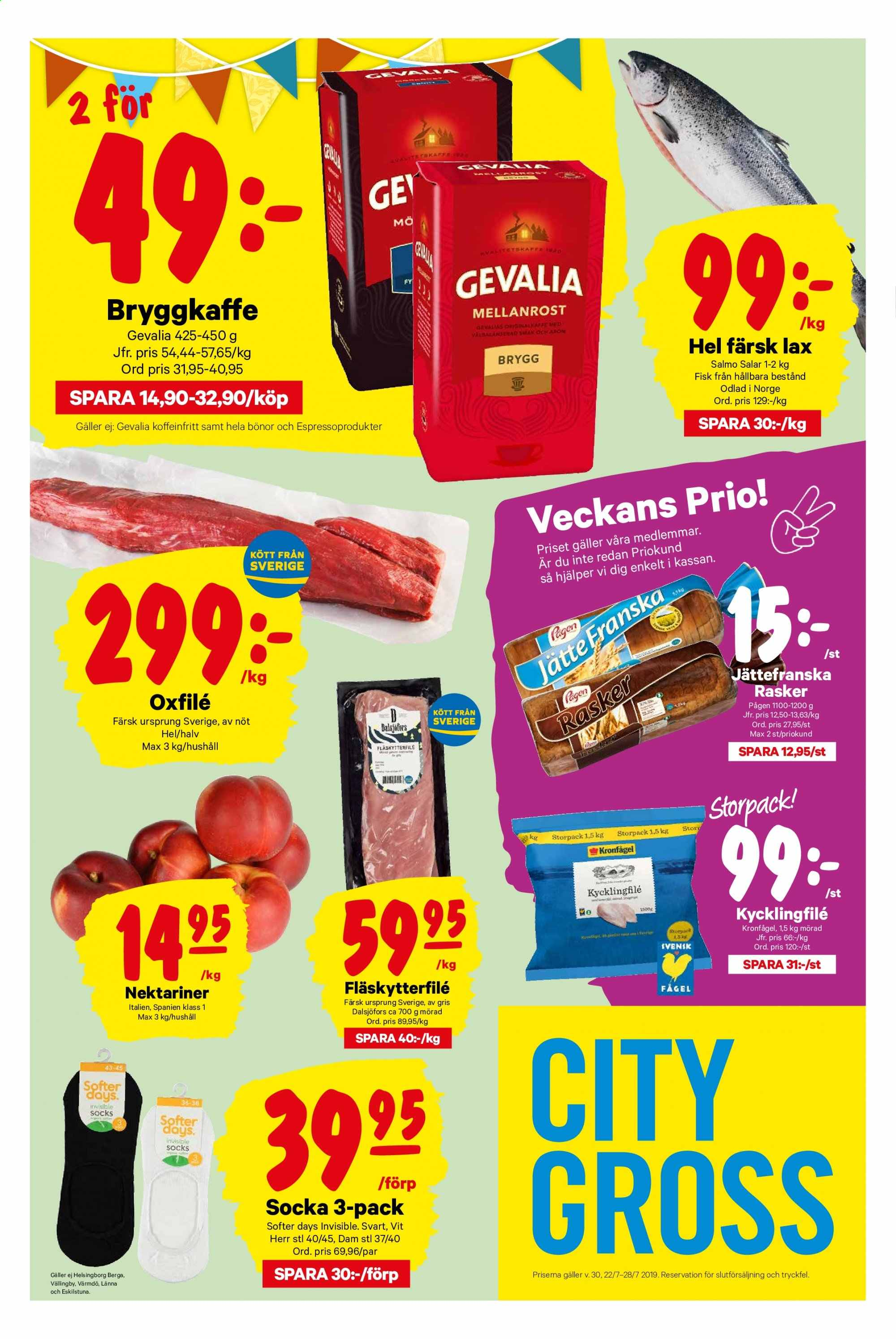 City Gross reklamblad - 22/7 2019 - 28/7 2019. Sida 1.