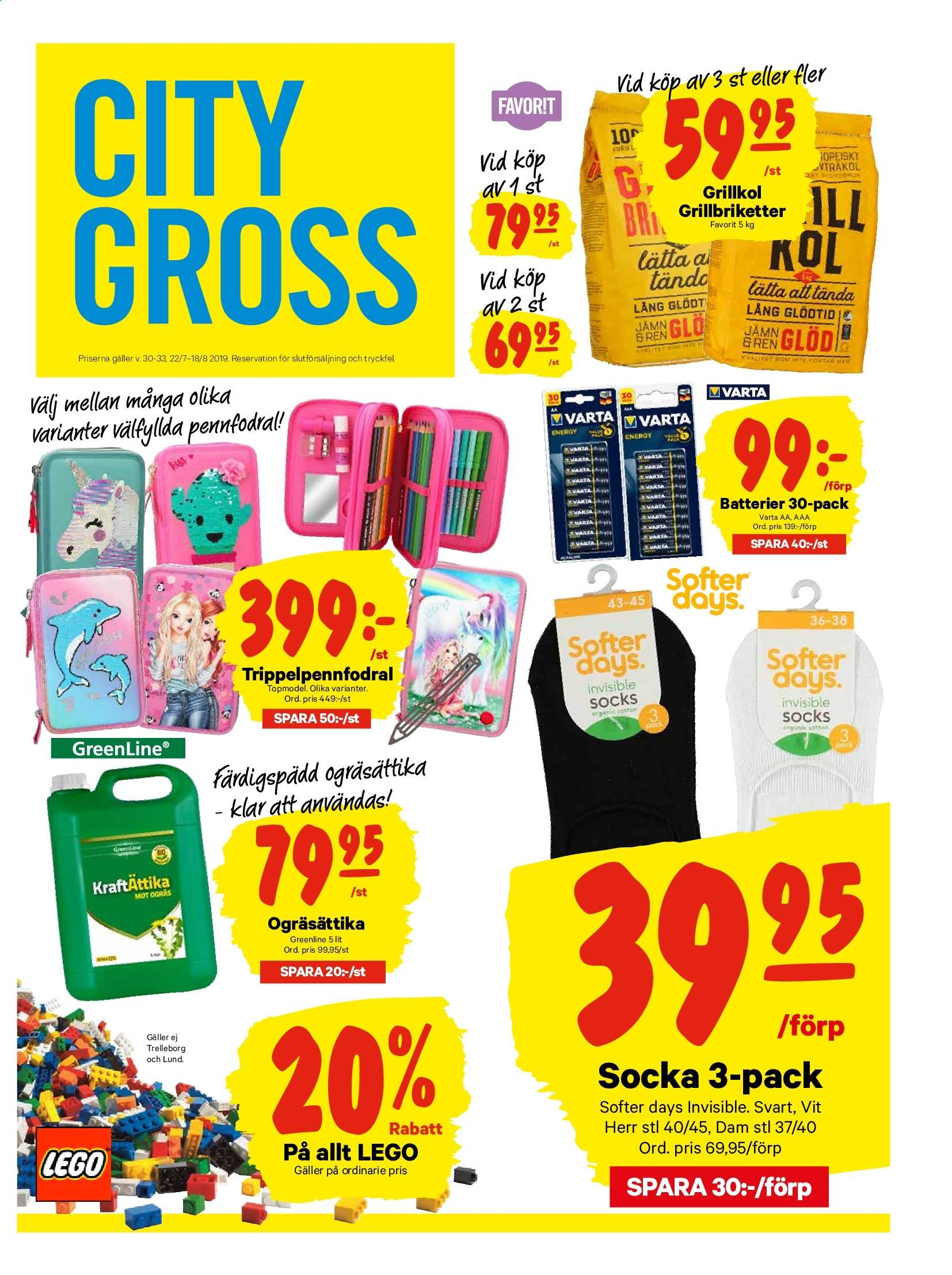 City Gross reklamblad - 22/7 2019 - 28/7 2019. Sida 13.