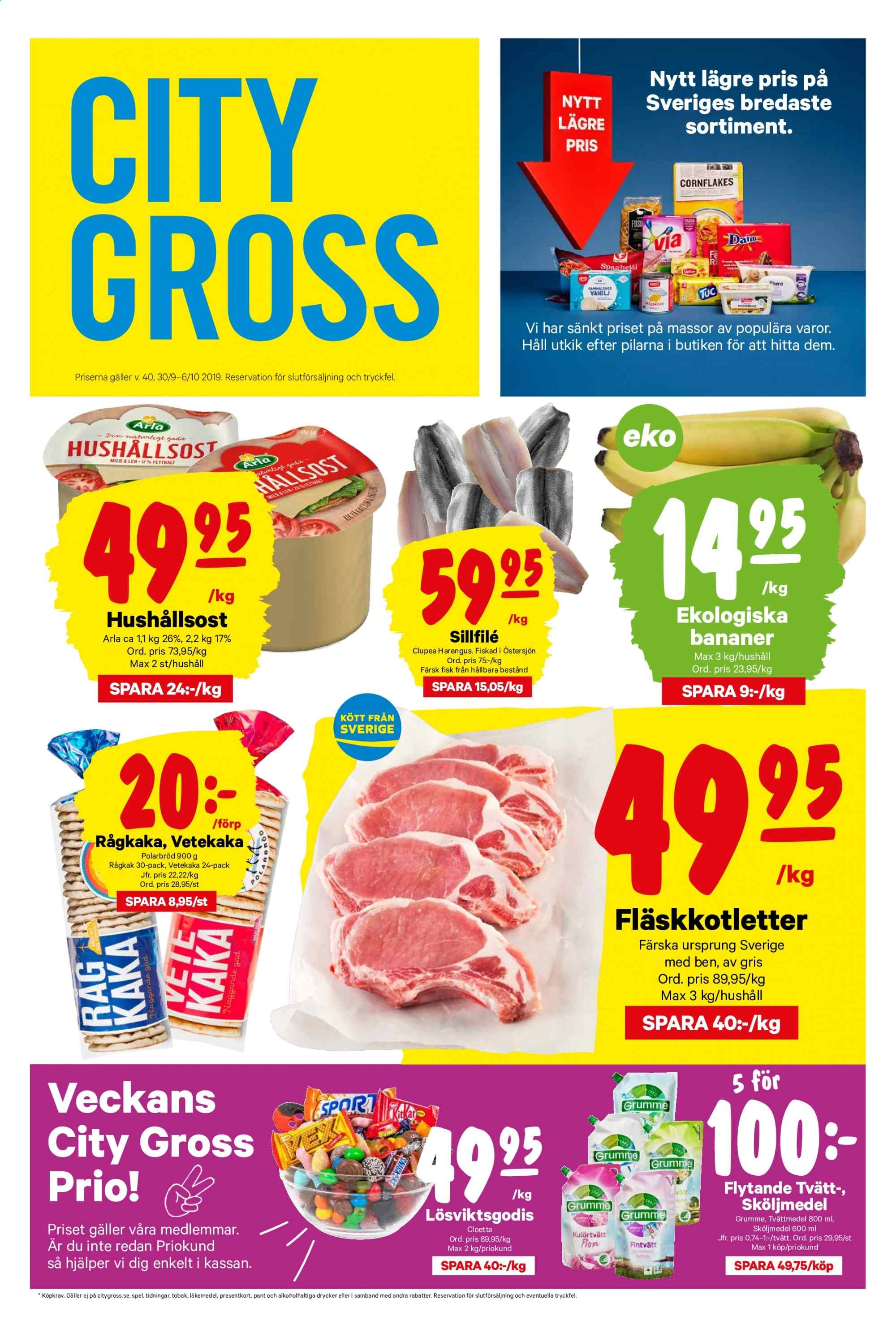 City Gross reklamblad - 30/9 2019 - 6/10 2019. Sida 1.