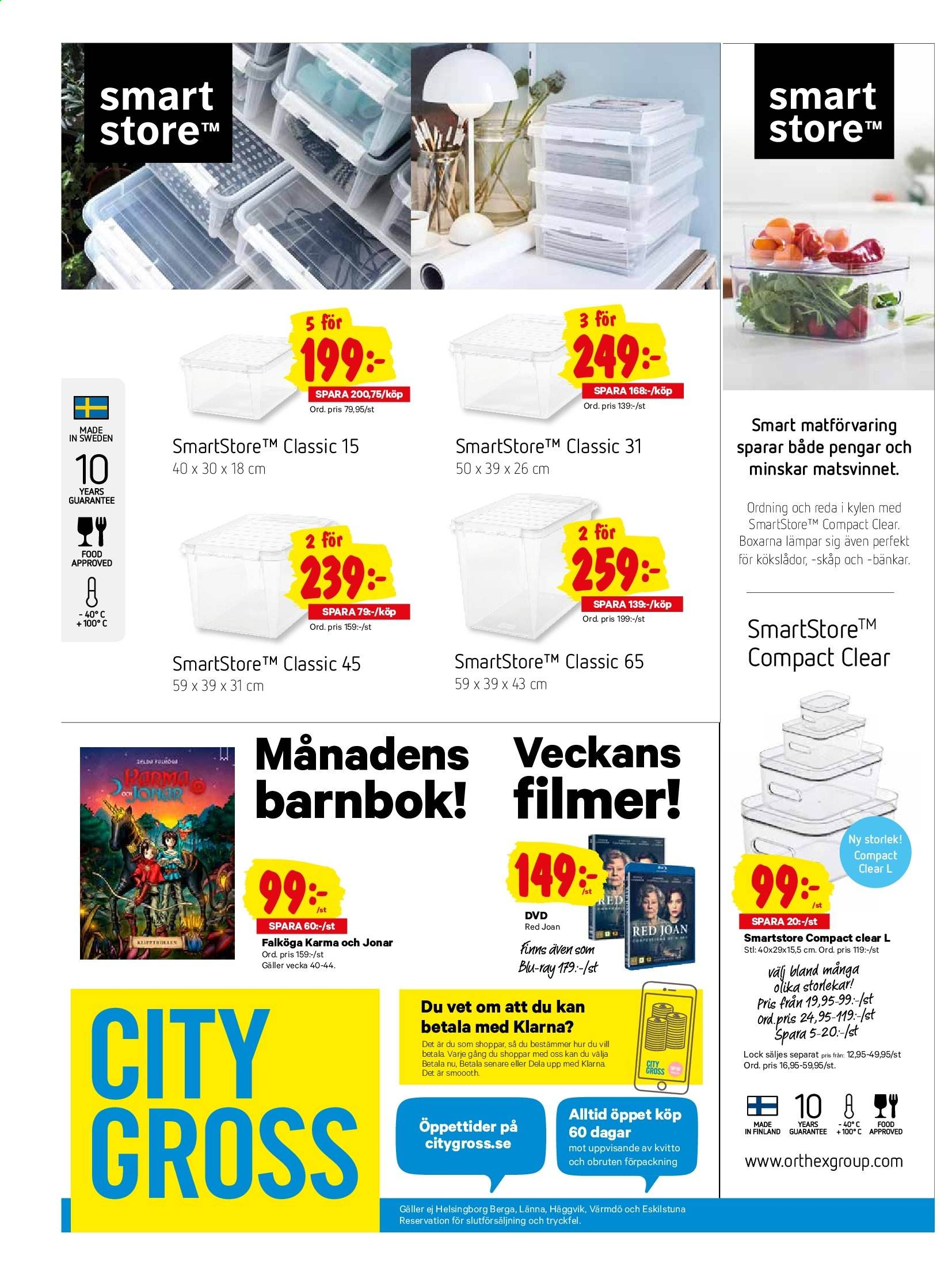 City Gross reklamblad - 30/9 2019 - 6/10 2019. Sida 20.
