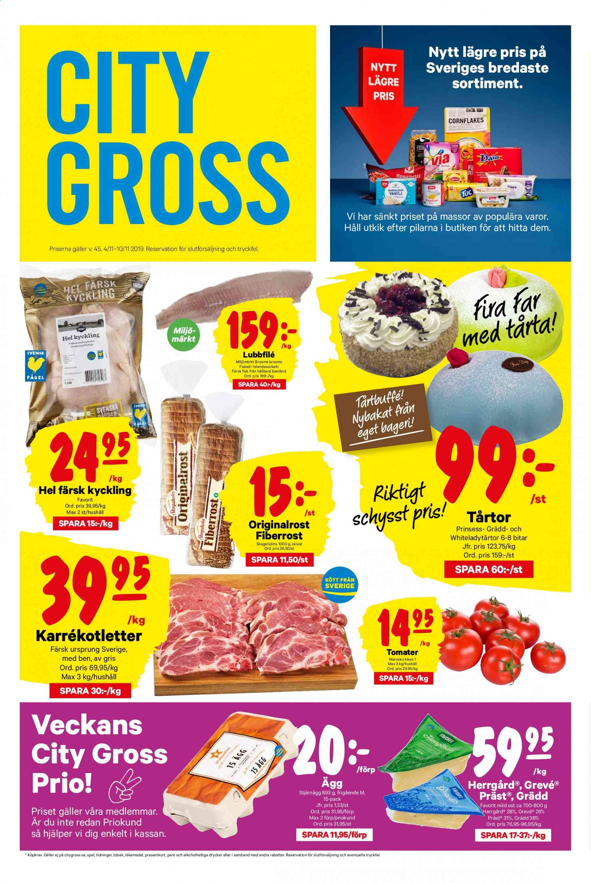 City Gross reklamblad - 4/11 2019 - 10/11 2019. Sida 1.