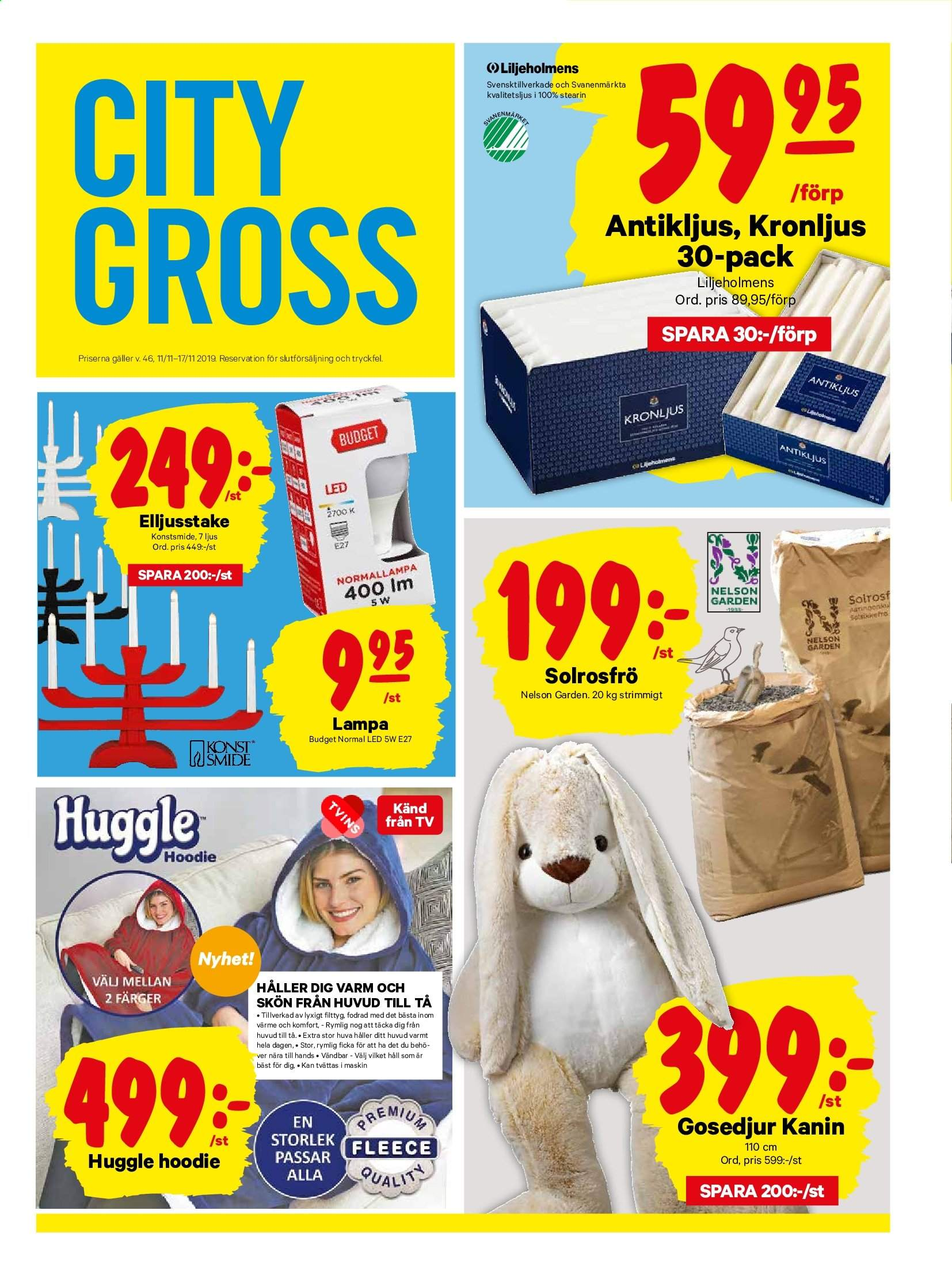City Gross reklamblad - 11/11 2019 - 17/11 2019. Sida 14.