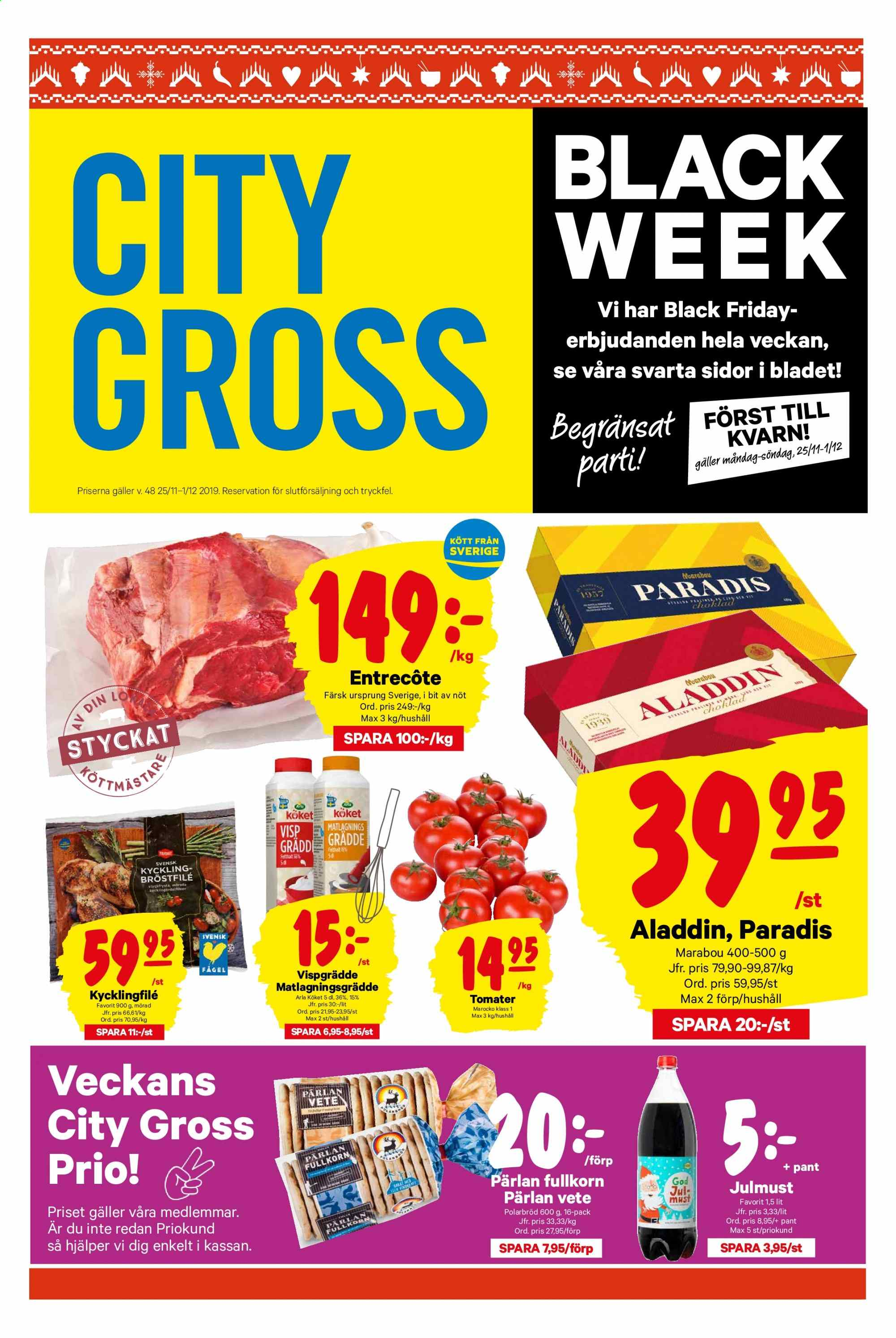 City Gross reklamblad - 25/11 2019 - 1/12 2019. Sida 1.