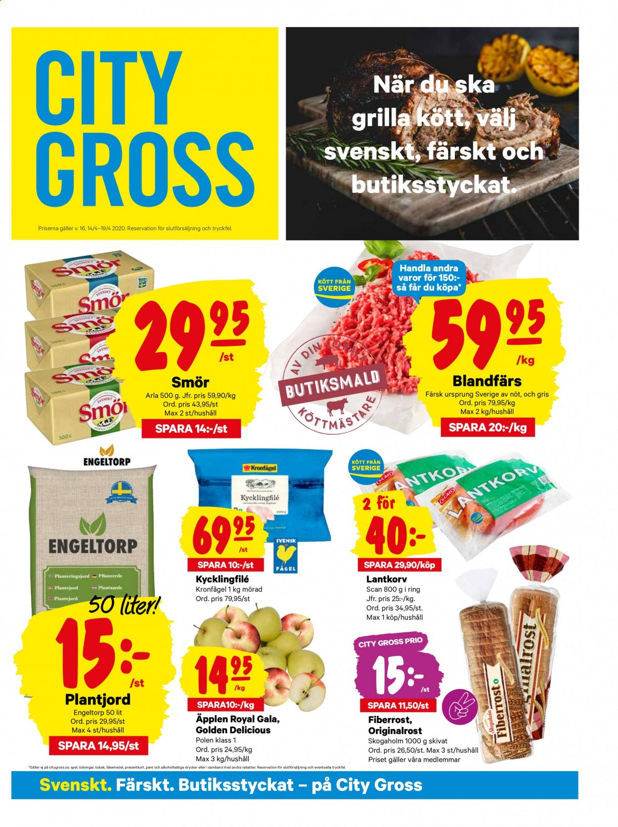 City Gross reklamblad - 14/4 2020 - 19/4 2020. Sida 1.