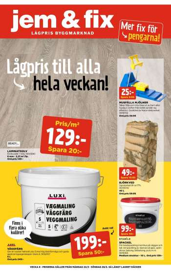 Jem & Fix reklamblad - 22/2 2021 - 28/2 2021.