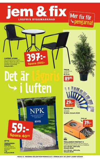 Jem & Fix reklamblad - 22/3 2021 - 28/3 2021.