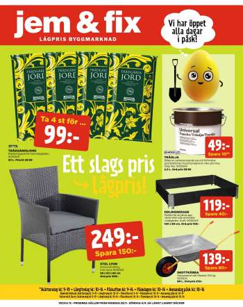Jem & Fix reklamblad - 29/3 2021 - 4/4 2021.