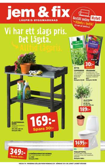 Jem & Fix reklamblad - 5/4 2021 - 11/4 2021.