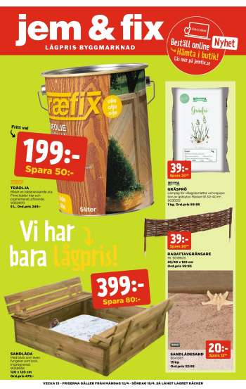 Jem & Fix reklamblad - 12/4 2021 - 18/4 2021.