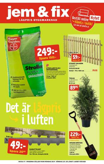 Jem & Fix reklamblad - 26/4 2021 - 2/5 2021.