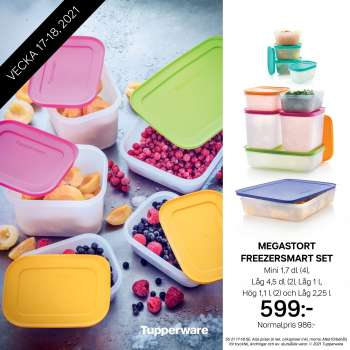 Tupperware reklamblad - 26/4 2021 - 9/5 2021.