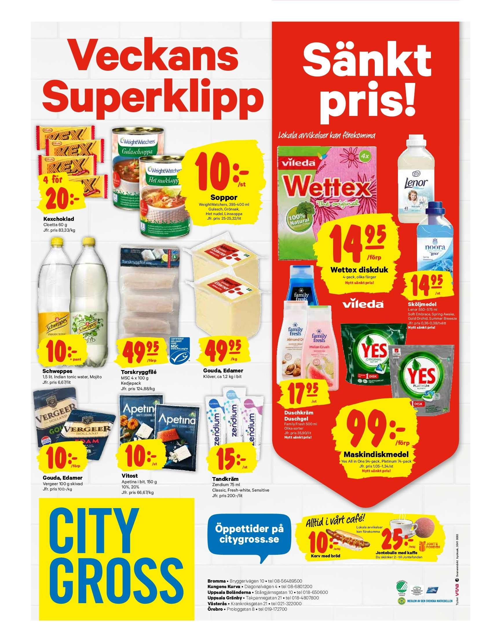 City Gross reklamblad - 10/9 2018 - 16/9 2018. Sida 24.