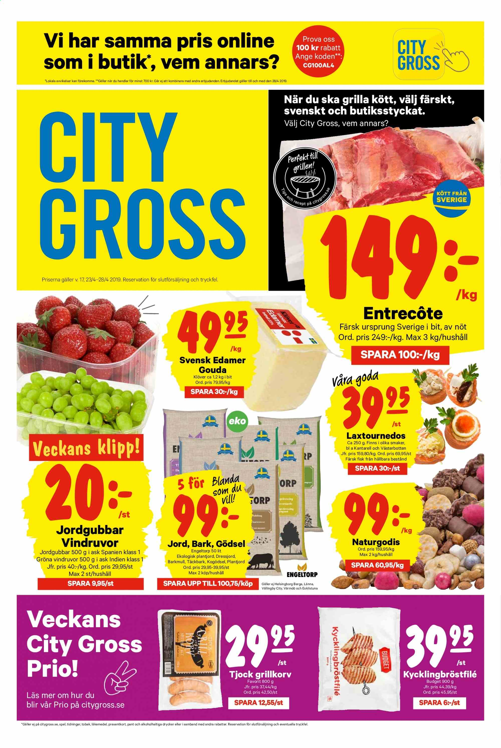 City Gross reklamblad - 23/4 2019 - 28/4 2019. Sida 1.