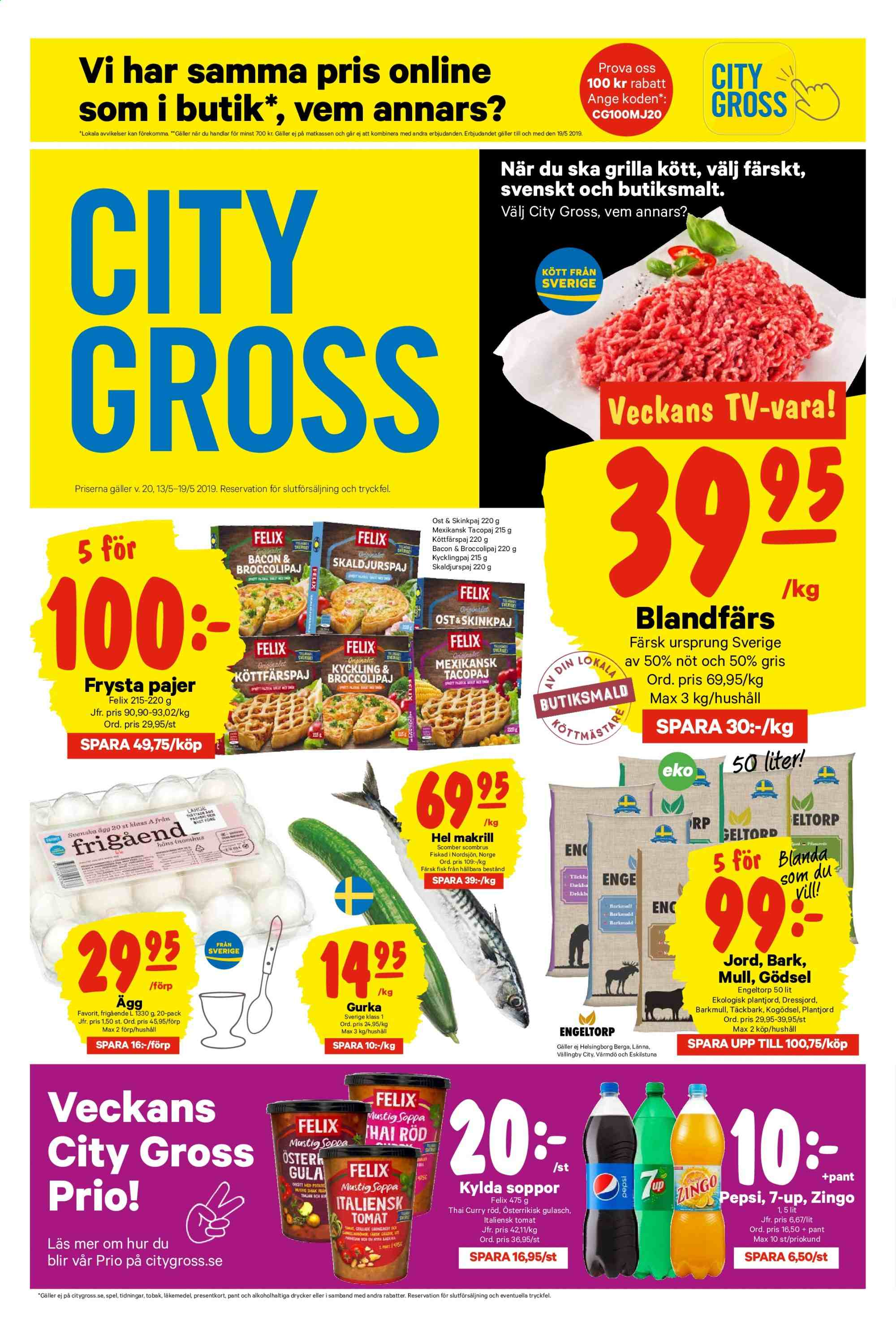 City Gross reklamblad - 13/5 2019 - 19/5 2019. Sida 1.