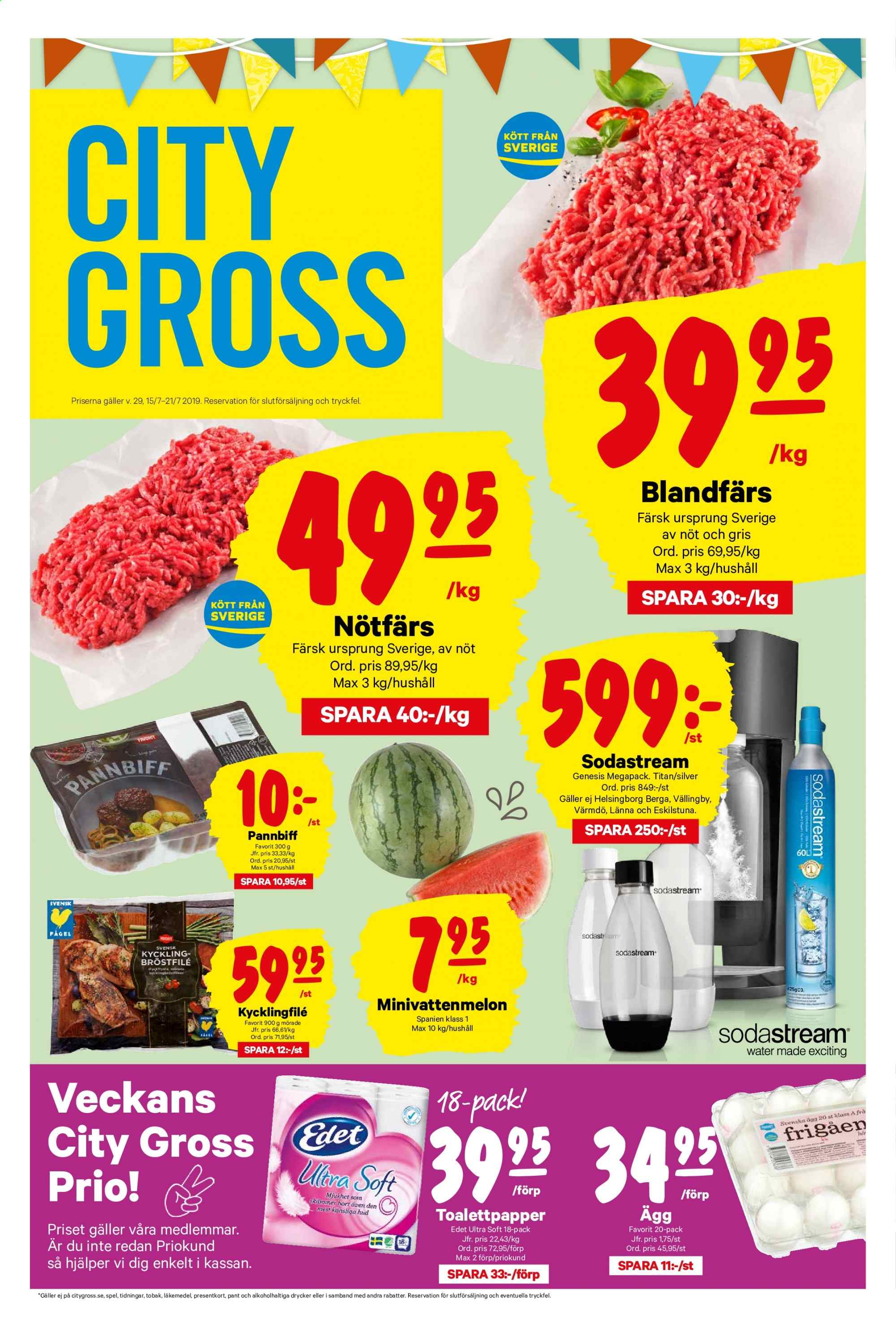 City Gross reklamblad - 15/7 2019 - 21/7 2019. Sida 1.