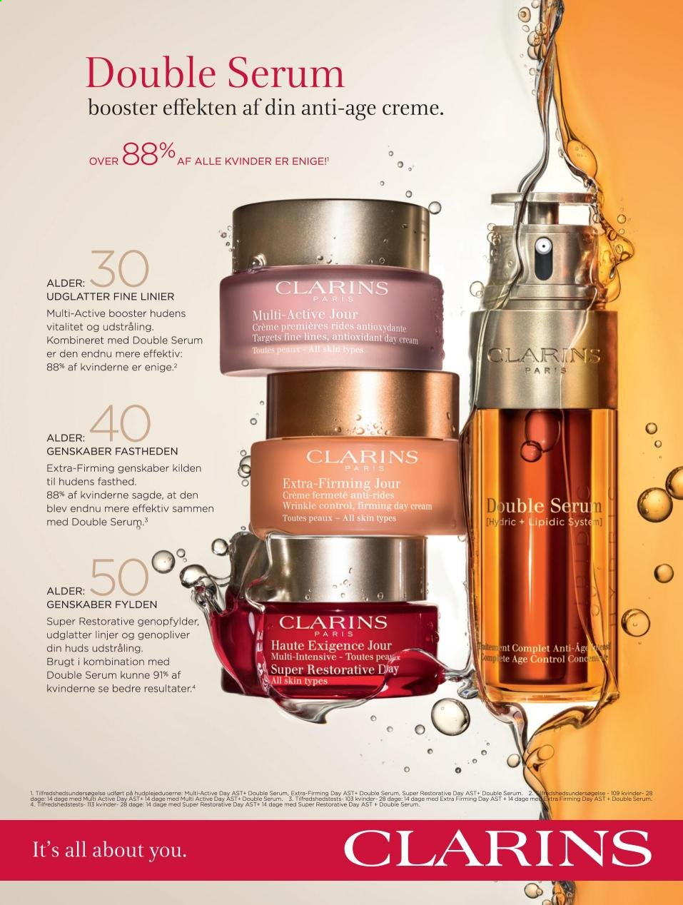 Magasin tilbud  - tilbudsprodukter - clarins, serum, super+. Side 37.
