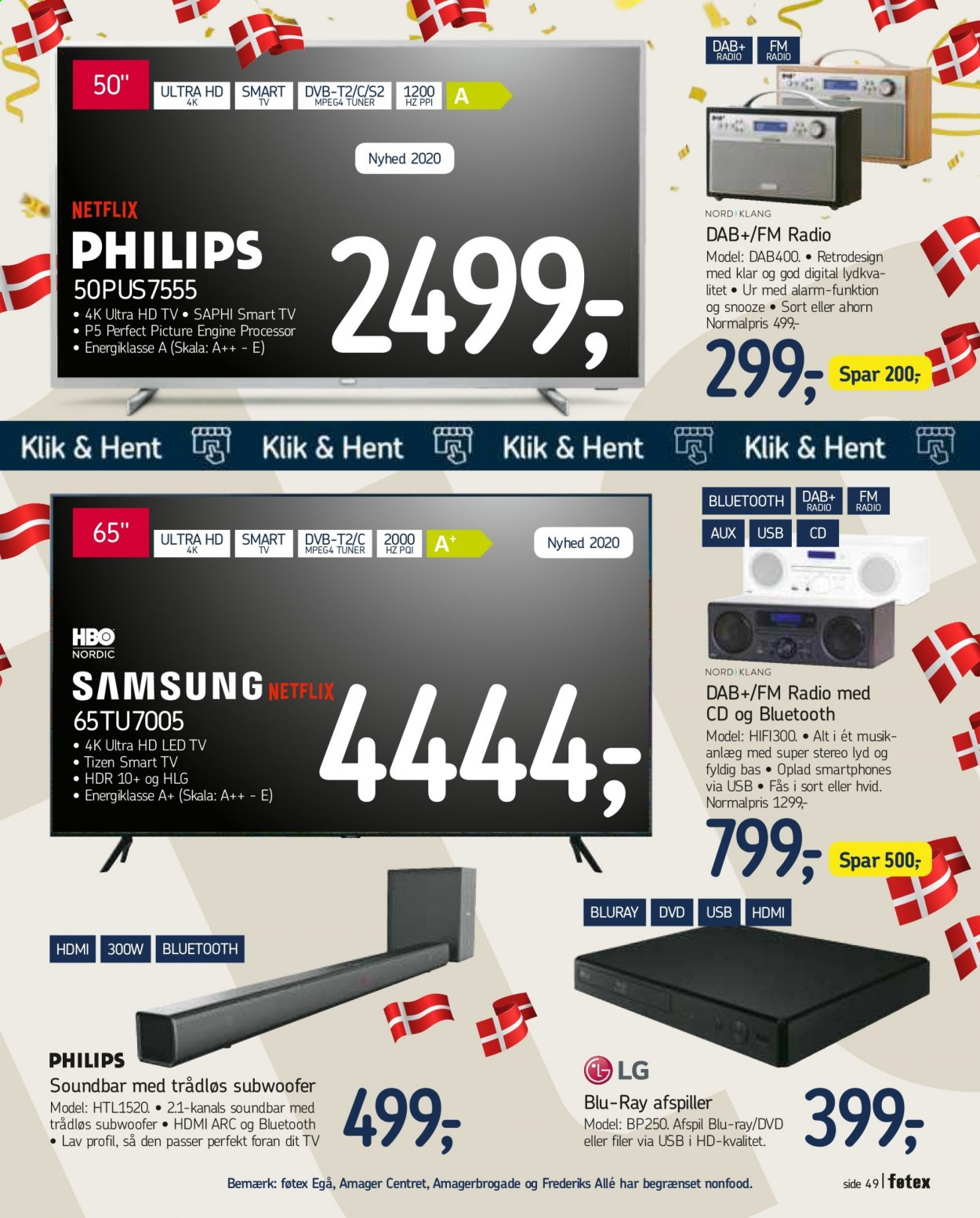 føtex tilbud  - 18.09.2020 - 24.09.2020 - tilbudsprodukter - dvd, led tv, nyhed, smart tv, soundbar, subwoofer, tv, ur. Side 54.