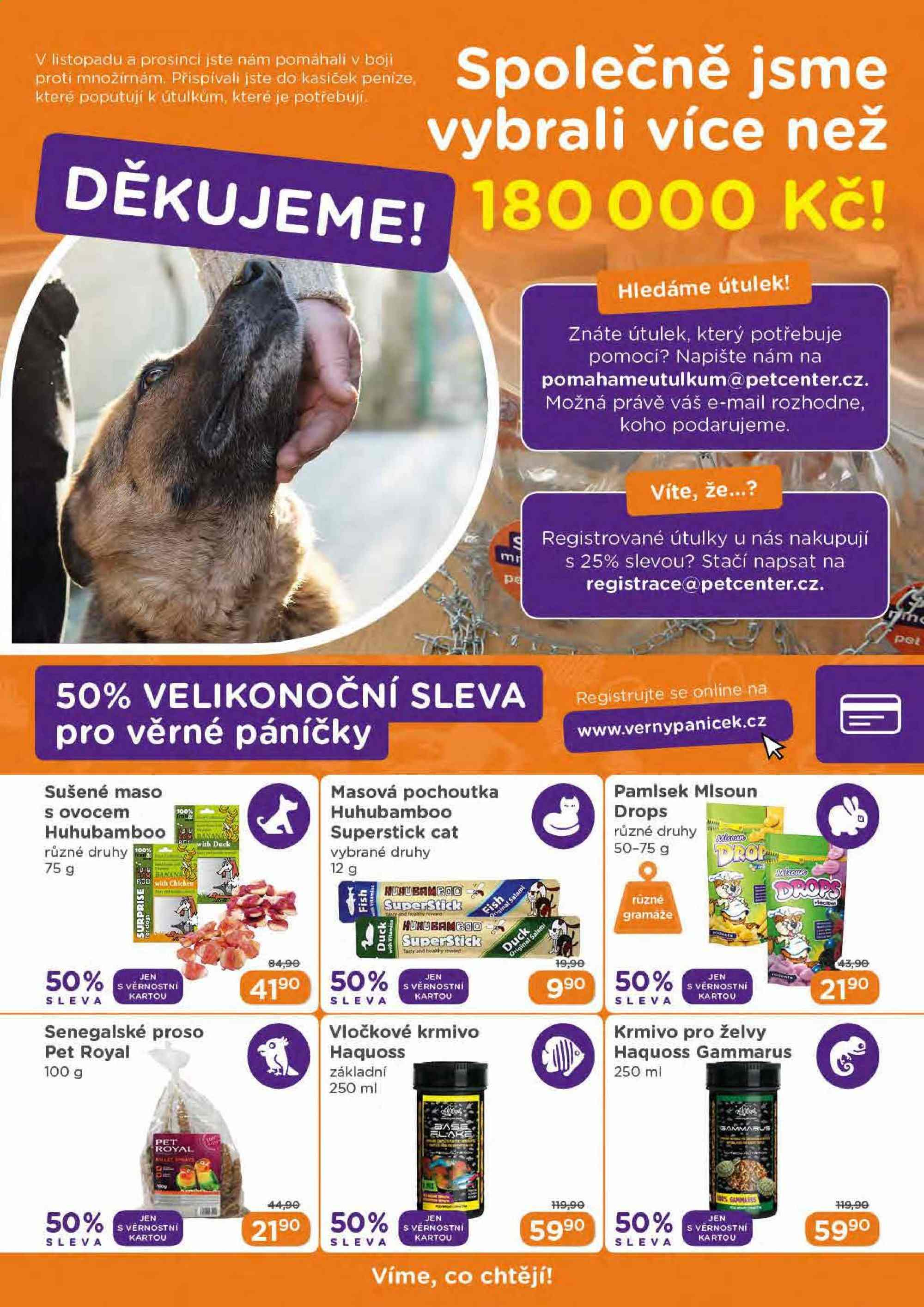Leták Pet Center - 1. 4. 2019 - 30. 4. 2019. Strana 9.