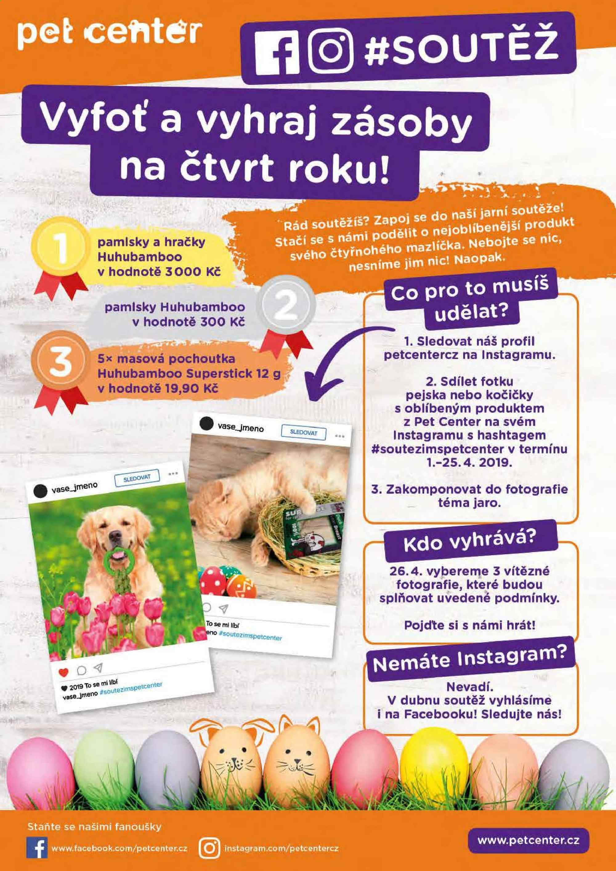Leták Pet Center - 1. 4. 2019 - 30. 4. 2019. Strana 20.