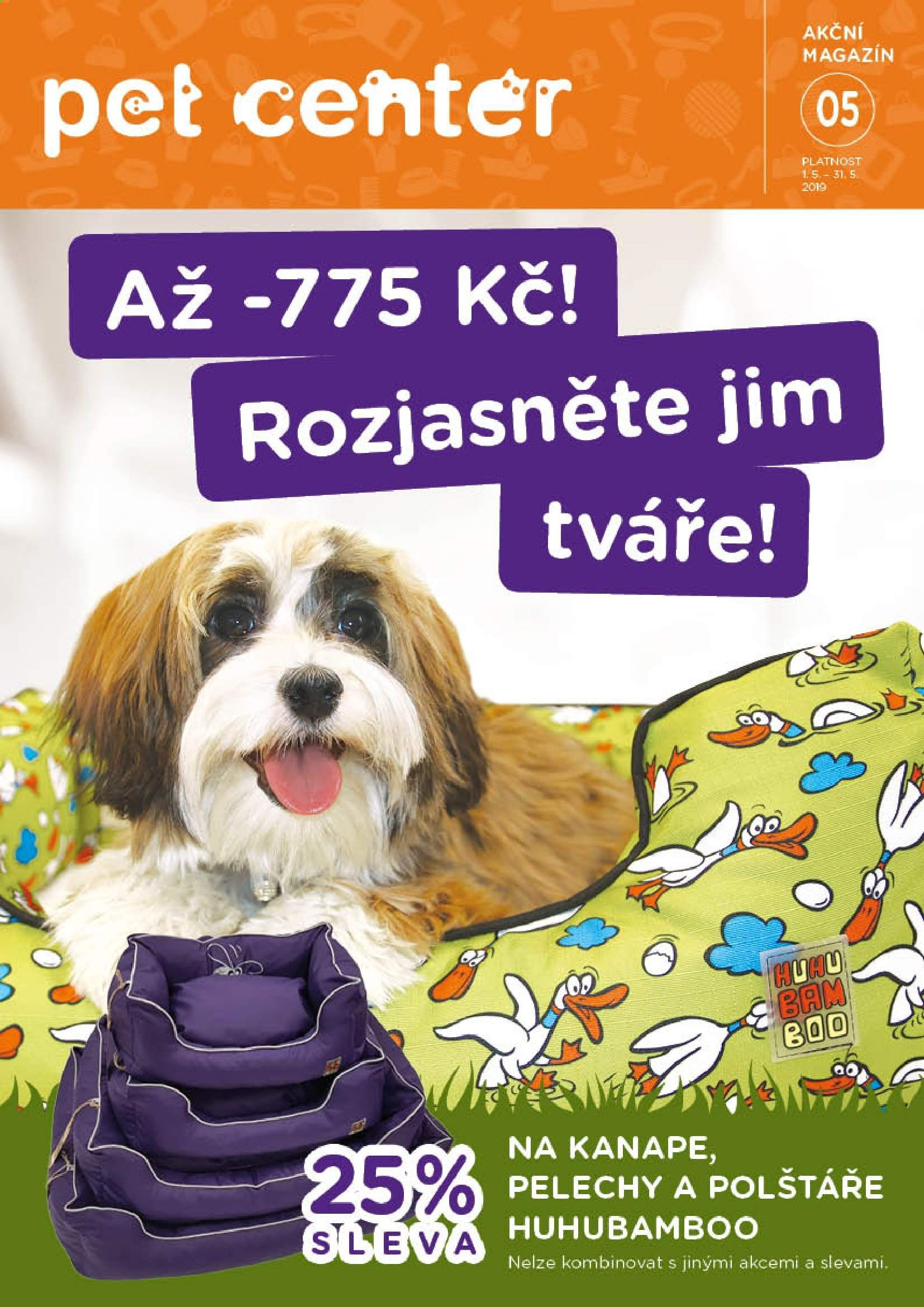 Leták Pet Center - 1. 5. 2019 - 31. 5. 2019. Strana 1.