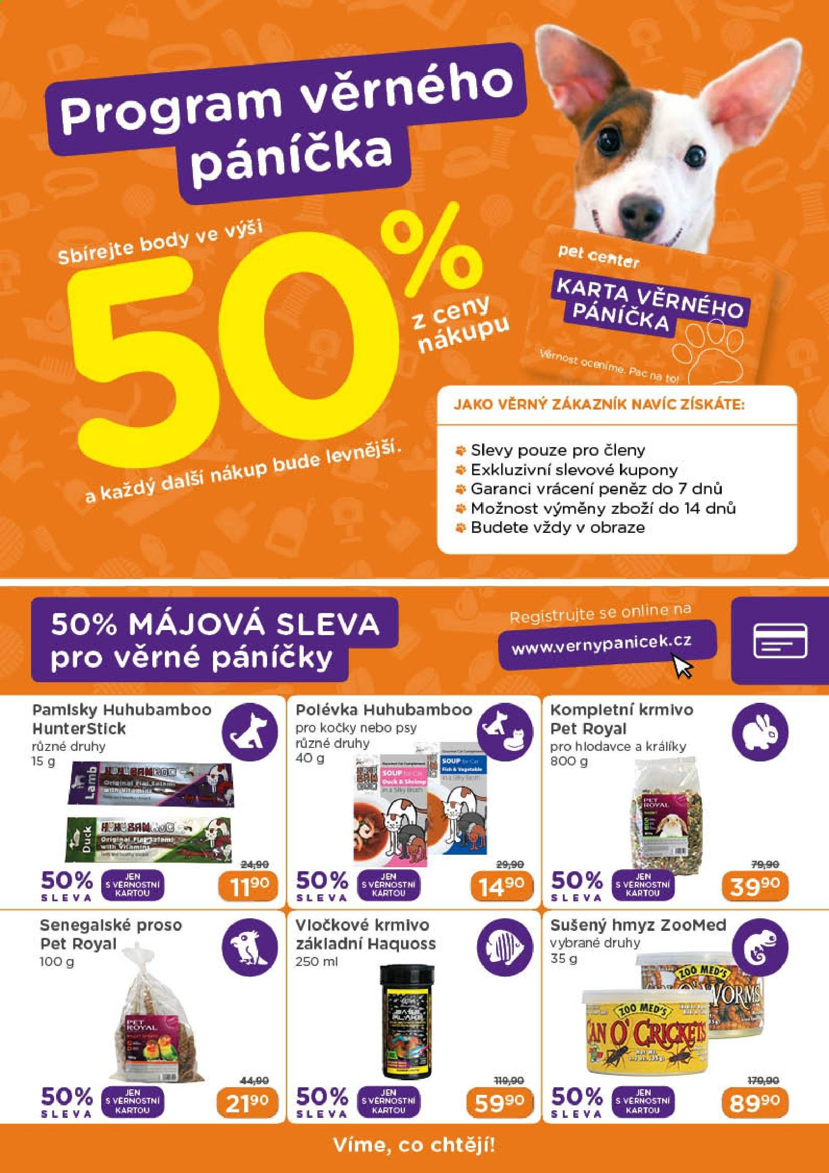 Leták Pet Center - 1. 5. 2019 - 31. 5. 2019. Strana 13.