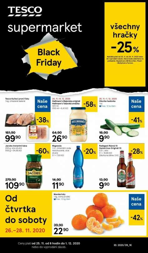 TESCO supermarket - Black Friday