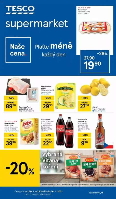 TESCO supermarket -  Plaťte méně každý den