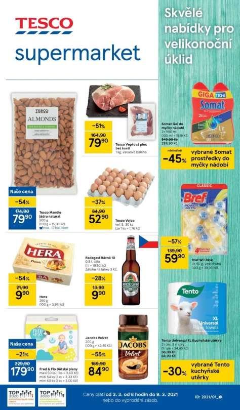 TESCO supermarket - Skvělé nabídky pro velikonoční úklid