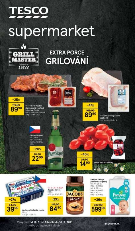 TESCO supermarket - Extra porce grilování