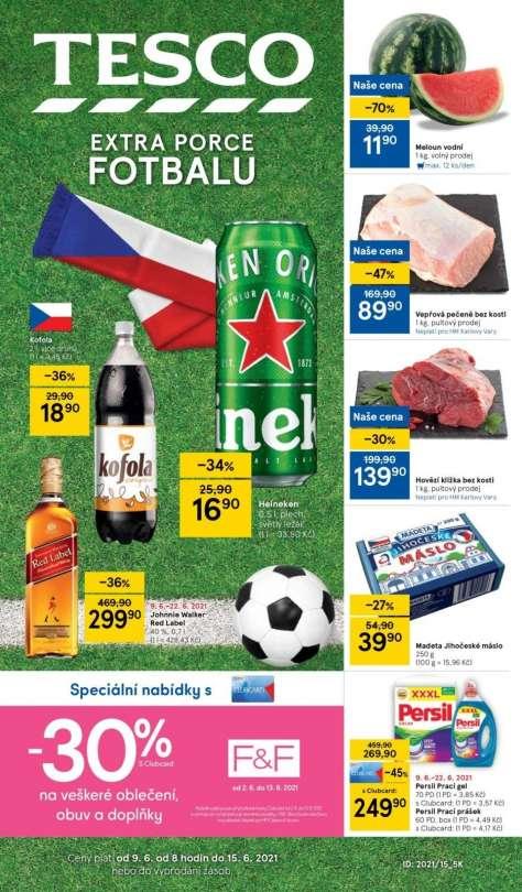 TESCO - Extra porce fotbalu