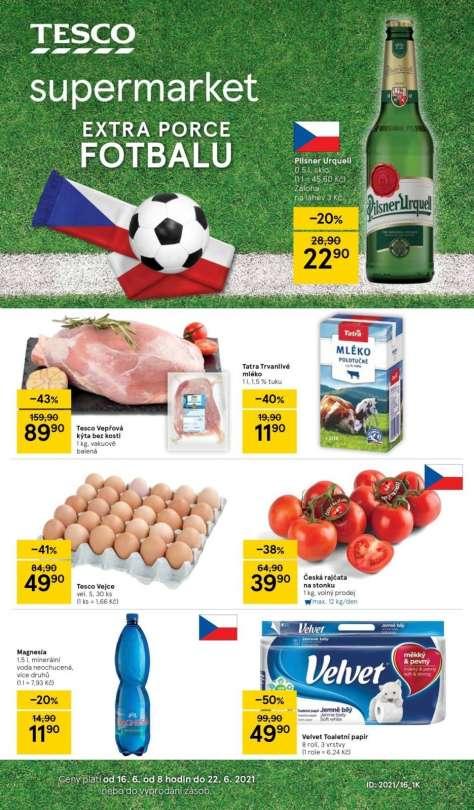 TESCO supermarket - Extra porce fotbalu