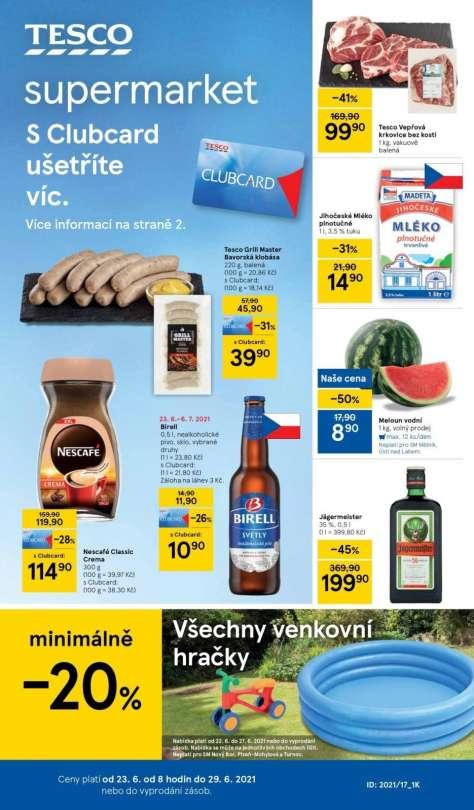 TESCO supermarket - S Clubcard ušetříte víc