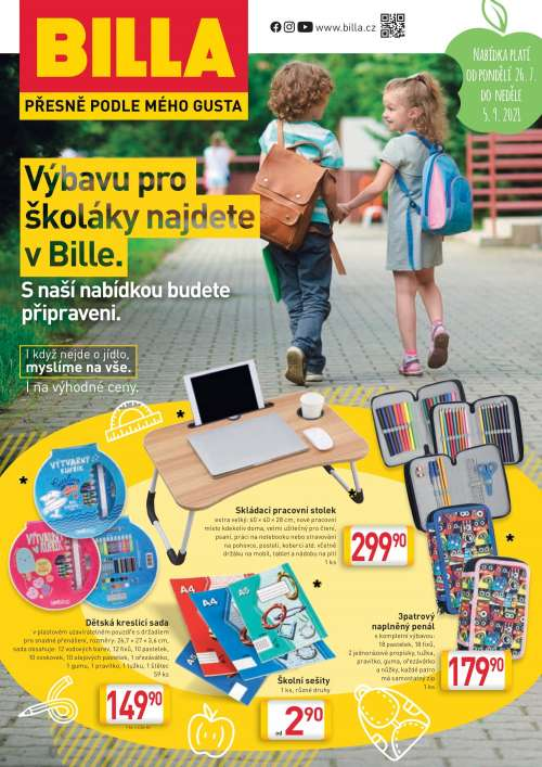 BILLA Katalog: Výbava pro školáky