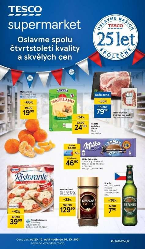 TESCO supermarket - Oslavme spolu čtvrtstoletí kvality a skvělých cen