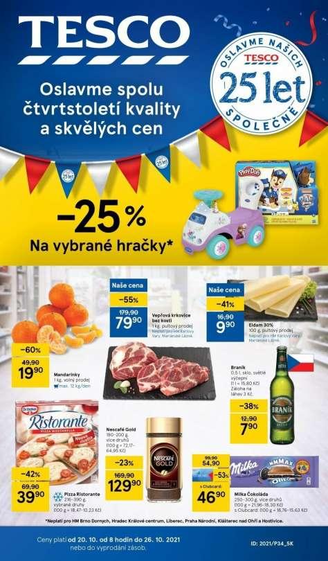 TESCO - Oslavme spolu čtvrtstoletí kvality a skvělých cen