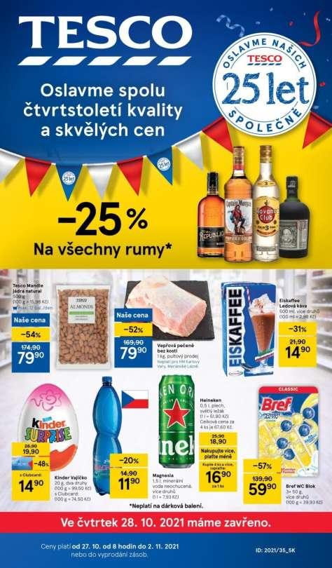TESCO - Akce -25% na všechny rumy