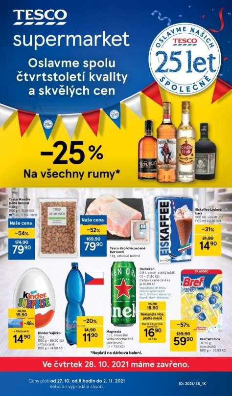 TESCO supermarket - Akce -25% na všechny rumy