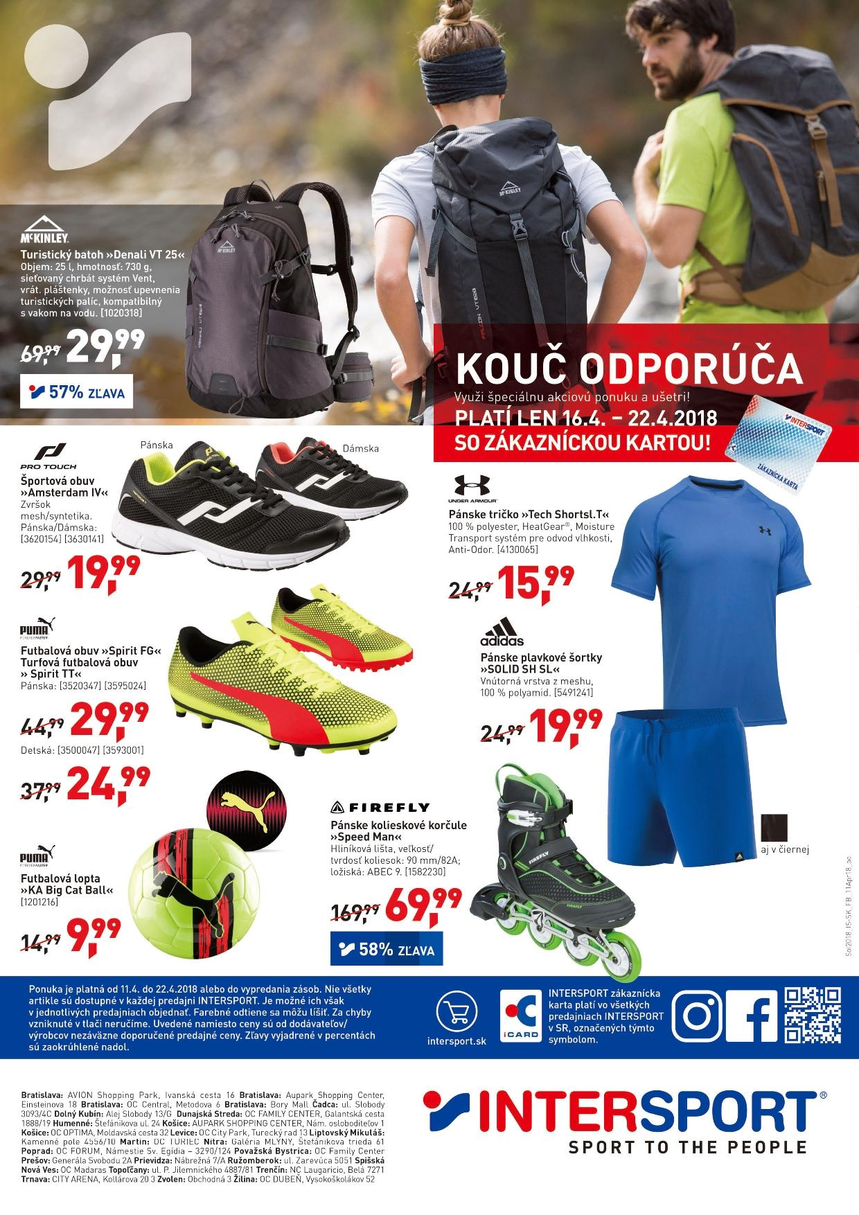 Leták Intersport - 11.4.2018 - 22.4.2018. Strana 8.