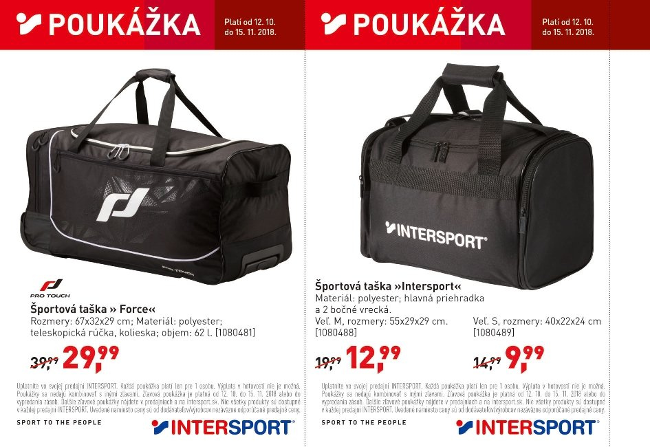 Leták Intersport - 12.10.2018 - 15.11.2018. Strana 26.