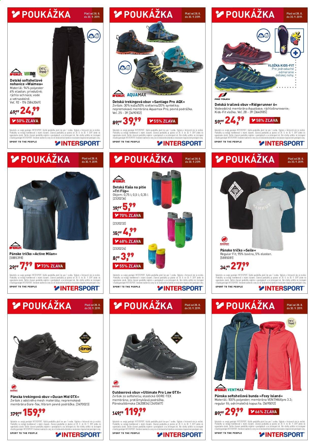 Leták Intersport - 28.8.2019 - 30.9.2019. Strana 2.