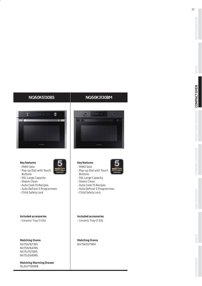 Promo Samsung - Produk diskon - dishwasher, tray, oven, induction cooktop, drawer, cooktop. Halaman 36.