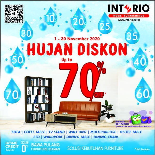 Promo Interio - 11/01/2020 - 11/30/2020 - Produk diskon - wardrobe, table, sofa, stand, chair, furniture, dining table. Halaman 1.