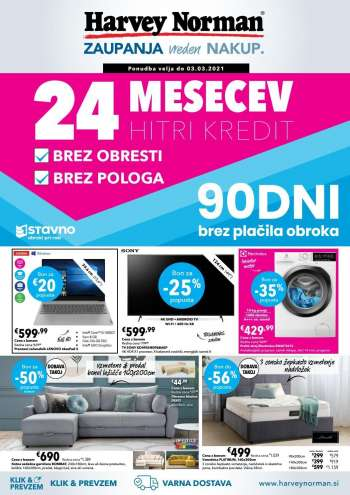 Harvey Norman katalog - 18.02.2021 - 03.03.2021.