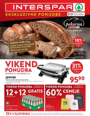 INTERSPAR katalog - 07.04.2021 - 13.04.2021.