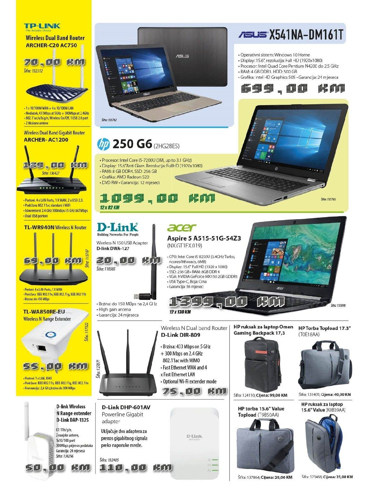 Imtec katalog - 01.08.2018. - 30.09.2018. - Sniženi proizvodi - adapter, amd, asus, d-link, full hd, hewlett packard, intel, intel core, laptop, procesor, ruksak za laptop, torba, tp-link, windows, nvidia. Stranica 3.